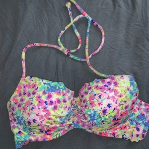 Victoria Secret Multi-Colored Bikini Top